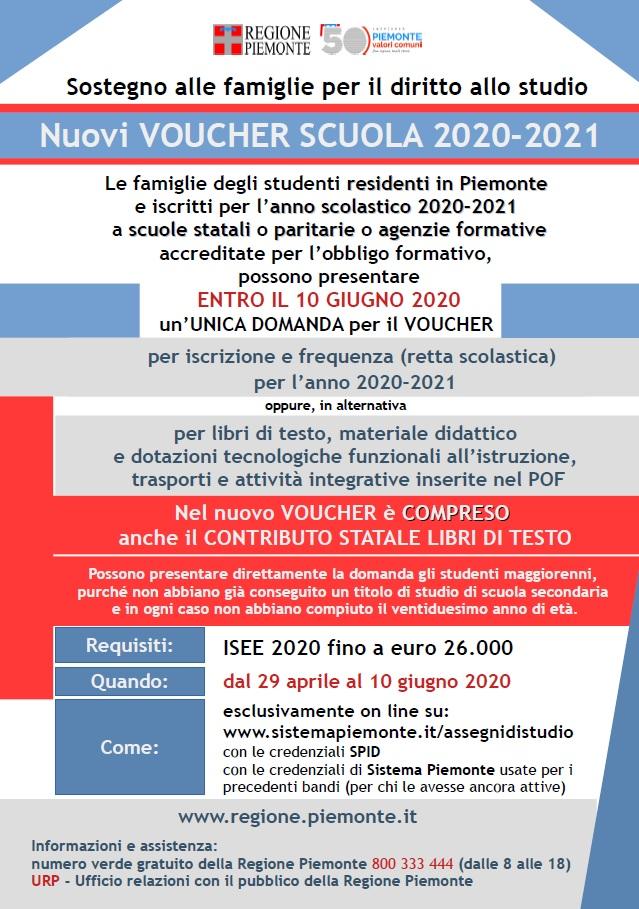 Nuovi Voucher scuola 2020-2021